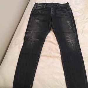 Citizens of humanity rocket high rise denim.